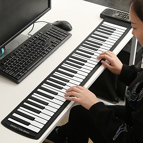 Fosa Portable 61-Keys Roll up Soft Silicone Flexible Electronic Digital Music Keyboard Piano New
