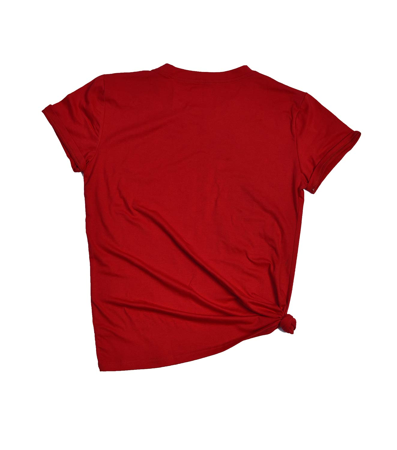 Eanklosco Merry Christmas T-Shirt Women\'s Casual Letter Tops Short Sleeve Shirts(Red,XL)