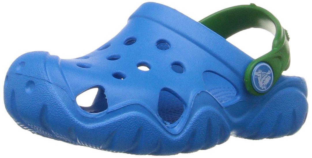 Crocs Kids' Swiftwater Clog K, Ocean/Kelly Green, 3 M US Little Kid