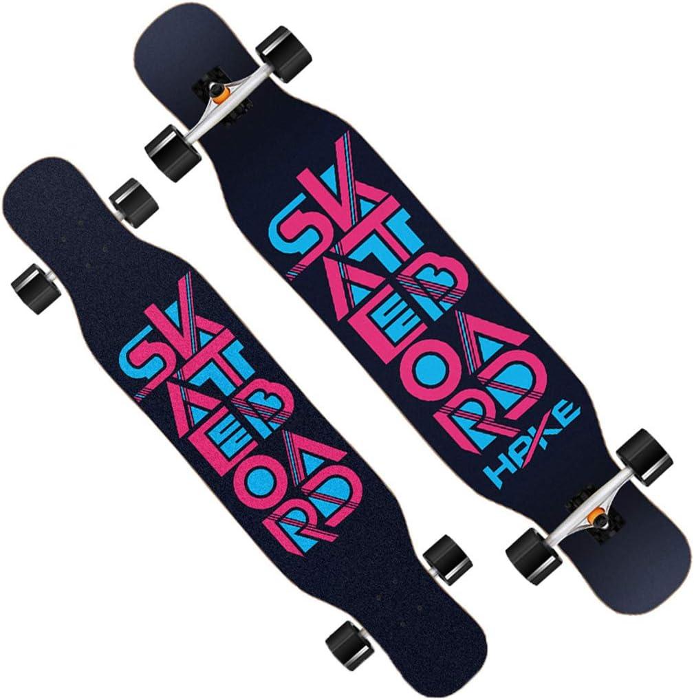 ロングボード スケートボード 46インチ クルーザー 最高の贈り物 フリースタイルロングボードスケートボード スケートボードを踊る アウトドアスポーツ 大人の子供のための初心者女の子男の子 ワイドデッキ #3