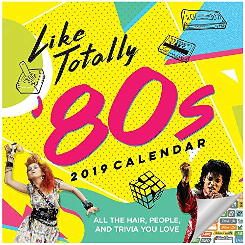 2019 Set - Deluxe 2019 1980s Wall Calendar Bundle with Over 100 Calendar Stickers (80s Office Decor and Room Decor) ()
