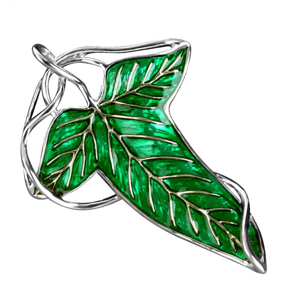 Lord of the Rings Elven Leaf Brooch with Chain Necklace