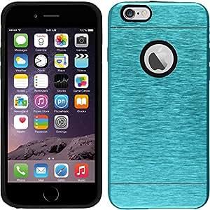 Hardcase for Apple iPhone 6s/6 - metallic blue - Cover PhoneNatic + protective foils