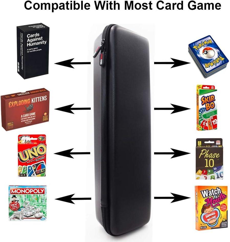 Monopolio, Cartas contra la Humanidad, Carta de Pokémon, Bolsa de Almacenamiento de Alta Capacidad, Caja de Acabado, Protege Tus Cartas, Compatible con la mayoría de los Juegos de Cartas: Amazon.es: Deportes y