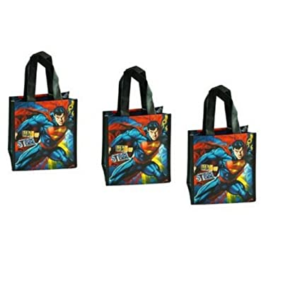 Superman Man of Steel Mini Non-Woven Tote Bag with Matte Printing x 3 bags