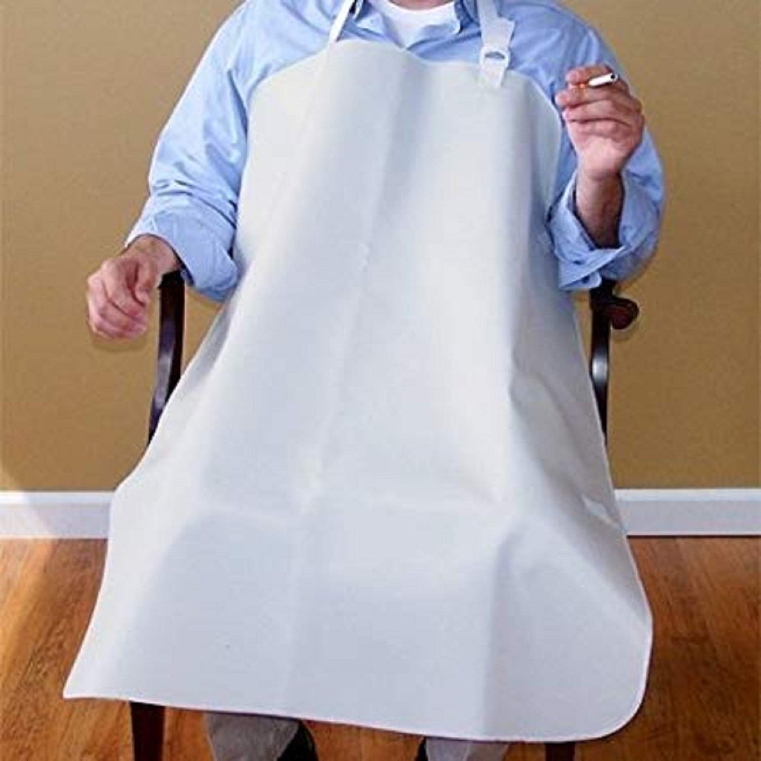 NYOrtho Smoker's Apron, X-Long White - Oversized for Geri-Chair