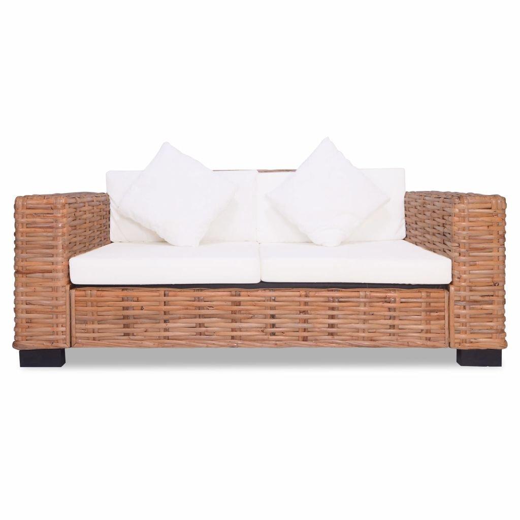 Tidyard Sofa de 2 Plazas Conjunto de Ratán Sofas Exterior ...