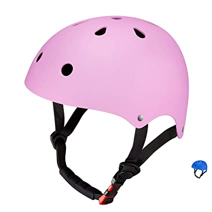 SKL Sport Helmet, Matt Colorful Kids Helmet Ciclismo Casco ABS Shell para Skateboard/Ski/Skating/Roller Protective Gear (49-55cm, Medio)
