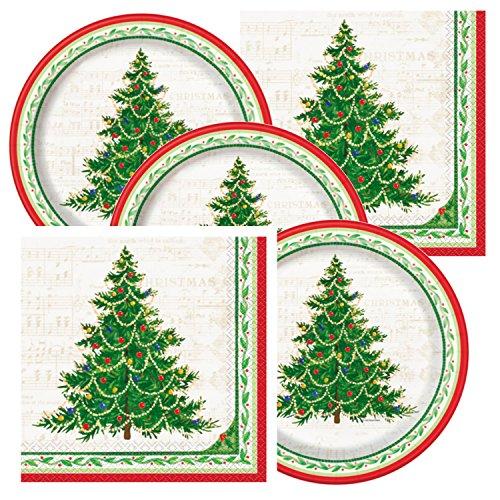 Classic Christmas Tree Theme Plates and Napkins (Party Christmas Themes Classic)