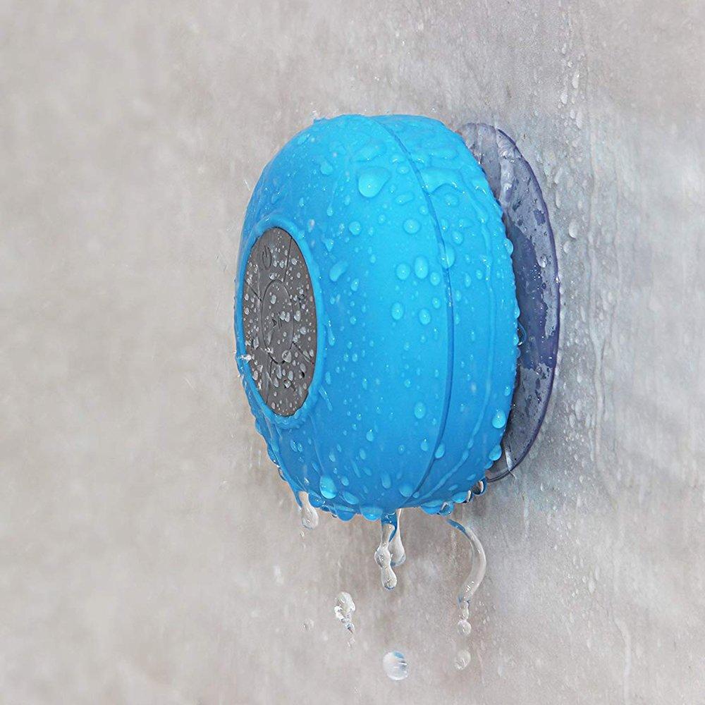 docooler Mini altoparlante portatile Subwoofer impermeabile Wireless BT3.0 Vivavoce Ricevitore Mic Doccia di aspirazione Car Bath Water Resistant Speakerphone