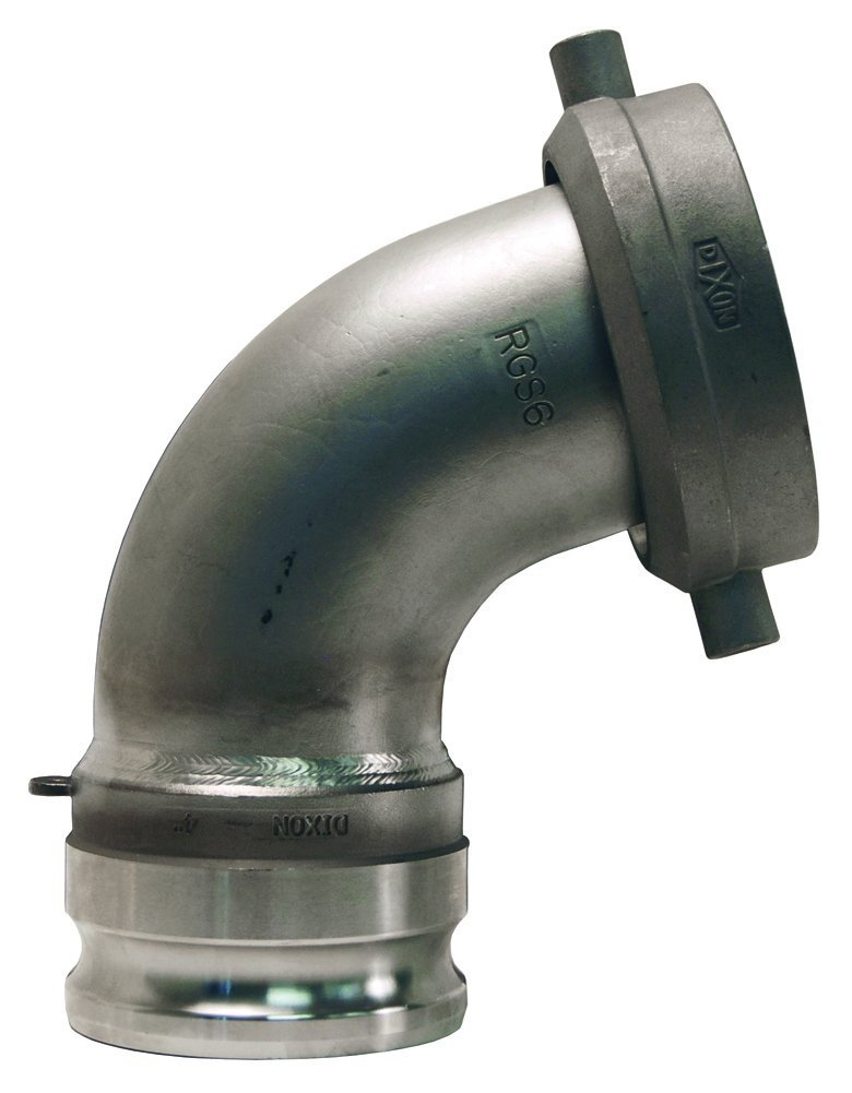 Dixon RTCA30 Stainless Steel 316 Style A Cam and Groove Hose Fitting, Tank Car Connection, 5'' Railroad Thread Swivel Nut x 3'' 20 Degree Plug