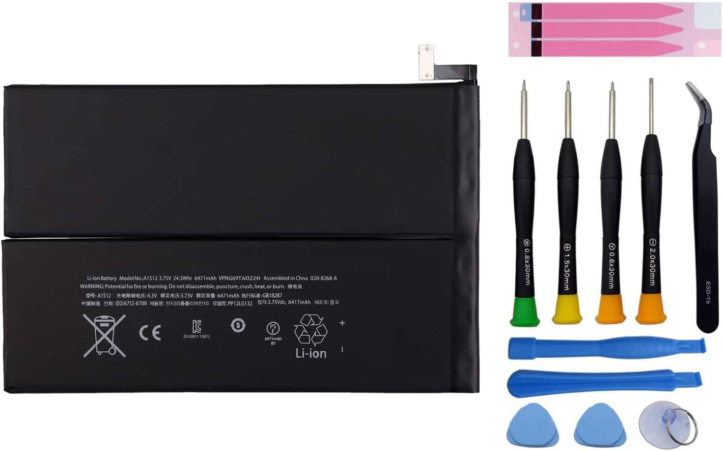 Pattaya New Replacement Battery A1512 Compatible with A1512 iPad Mini 2 iPad Mini 3 A1599 A1600 A1601 A1489 A1490 A1491 A1512