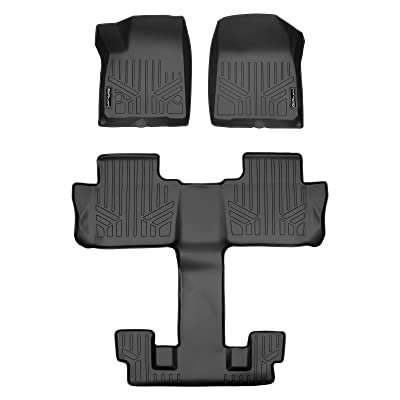 MAX LINER A0230/B0230 for 2020-2020 GMC Acadia with 2nd Row Bucket Seats, Black: Automotive