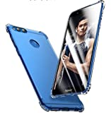 Tarkan Shock Proof Protective Soft Transparent Back Case Cover for Honor 7X [Bumper Corners with Air Cushion Technology]