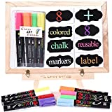 Liquid Chalk Markers - 8 Washable Pens with Reversible Tip for Window and Chalkboard (Nature color)