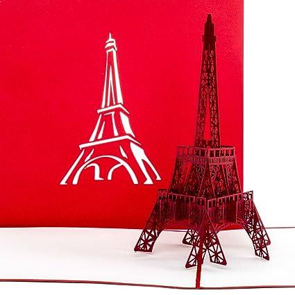 Karte Paris Eiffelturm.Pop Up Karte Paris Eiffelturm Gutschein Reisegutschein Paris Frankreich 3d Karte Einladung Gutscheinkarte Einladungskarte Grusskarte Paris
