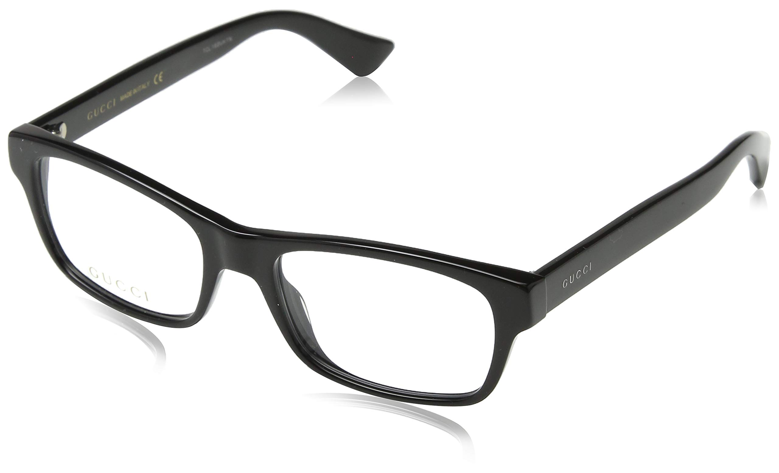 Gucci GG0006O Optical Frame 001 Black Black Transparent 53 mm by Gucci