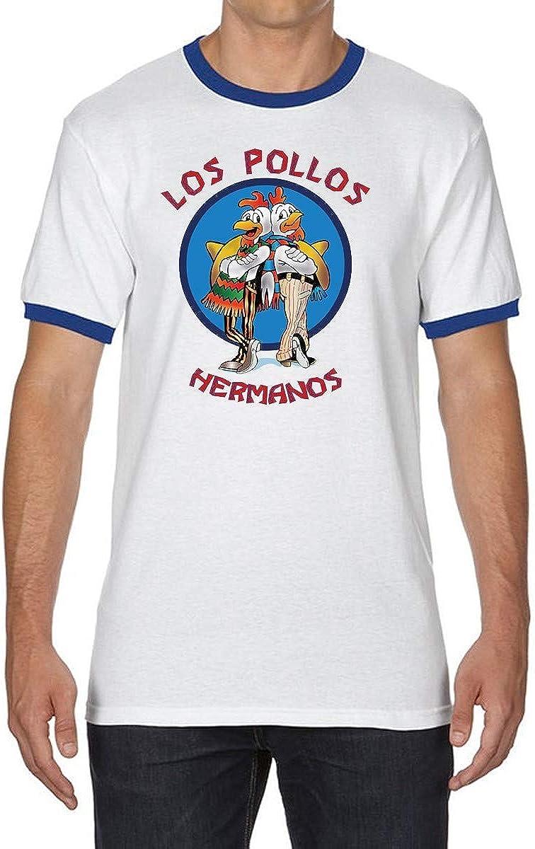 YAO STARS Breaking Bad Los Pollos Hermanos Ringer - Camiseta de Manga Corta para Hombre - Multi - Small: Amazon.es: Ropa y accesorios