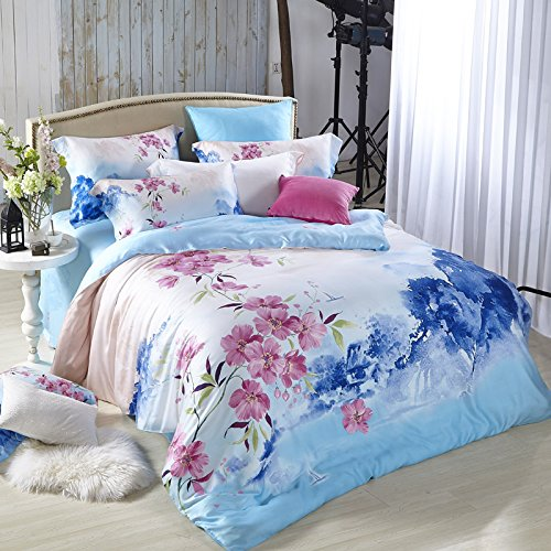 DHWM-The two sided pure tin wire 4 piece set, bed princess considered the kit, spring, summer and bare bed linen a ,1.8m