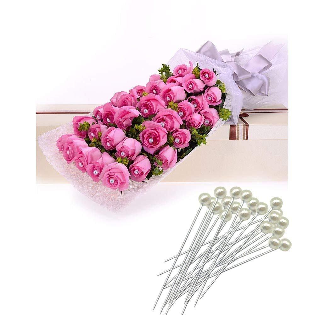 1//2 Cinta Floral Verde Stem Tape Woohome 5 Pz Herramienta Florales Alambre Floral de Calibre 22 y 100 Pz Aguja de Bolas