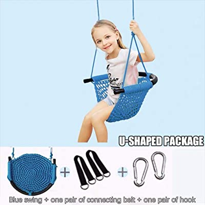 KANGMOON Kids Swing Seat Heavy Duty Rope Play Secure Children Swing Set for Indoor/Outdoor/Playground/Home/Tree with Adjustable Hanging Ropes, Ready to Hang and Enjoy as a Family: Home & Kitchen [5Bkhe0505885]