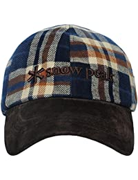 Snow Peak Tartan Checked Leather Brim Adjustable Classic Hat Cap
