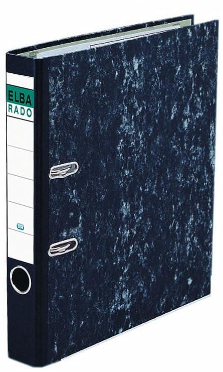 Elba Rado Clásico - Archivador palanca forrado en papel jaspeado, A4