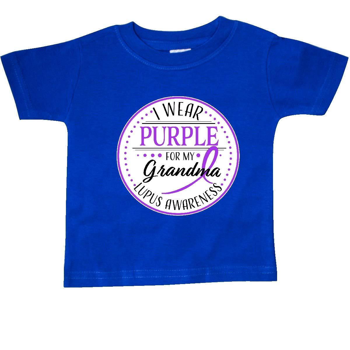 inktastic I Wear Purple for My Grandma Lupus Awareness Baby T-Shirt
