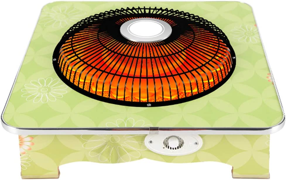 LTLJX Halogen Heater, Tube Quartz Space Electric Heaters Heating Oven Roasted Brazier Warm Hand Fout Adjustable Heat Settings for Office Desk Kitchen Bedroom and Dorm,Green