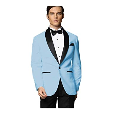 MYS Hombre Justo lo trauzeuge Smoking Azul Traje Negro Pantalones ...