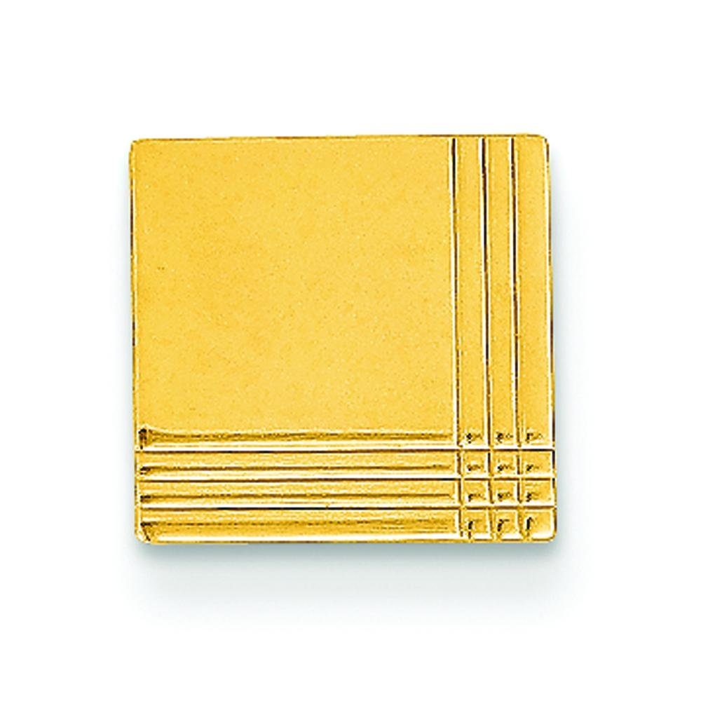 14K Yellow Gold Tie Tac Polished Mens Jewelry New |A by FindingKing (Image #1)
