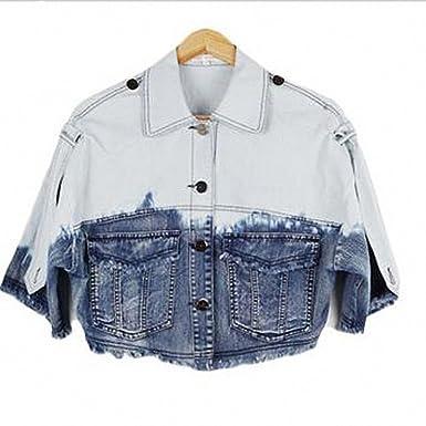 Denim Jacket Casual Women Jean Chaquetas Mujer Jaquetas Short Sleeve Coat Feminino Veste Femme Jeans Jacket