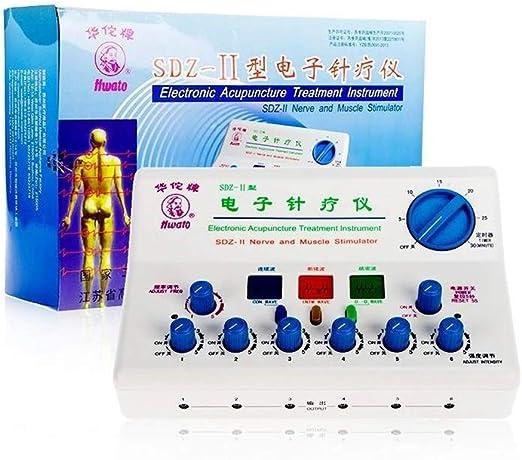 DDDXF Profesional 6 Canales Tens EMS Máquina Nervio Estimulador Muscular Equipo De Terapia De Acupuntura Meridiano Masajeador Corporal Cuerpo Completo Relajarse Electroestimulador Muscular Máquina D: Amazon.es: Hogar