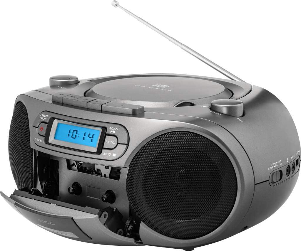 Ecg Cdr 999 Dab Dab Fm Radio With Cd Cassette Player Elektronik