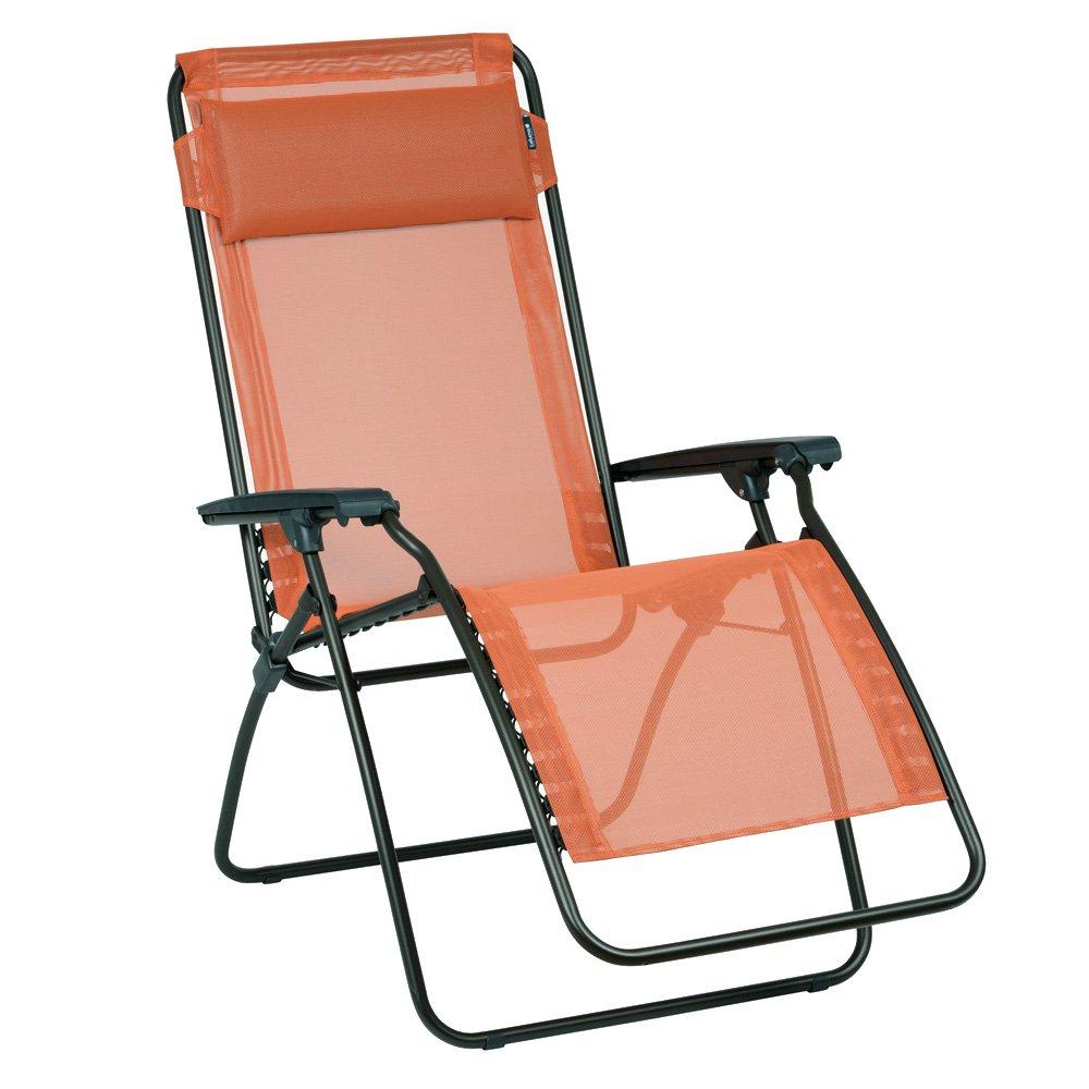 Lafuma Relax-Liegestuhl, Klappbar und verstellbar, verstellbar, verstellbar, R-Clip, Kürbis (Orange), LFM4007-7226 08bb46