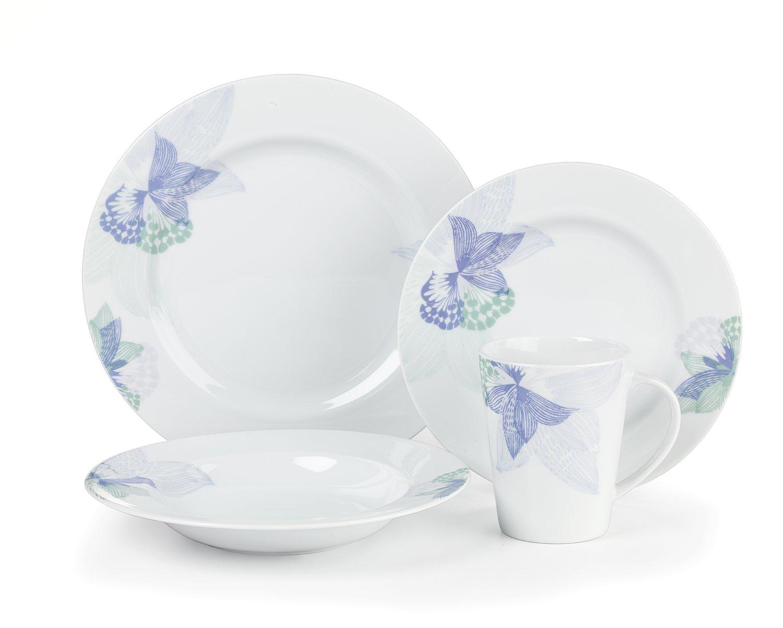 Cuisinart CDST1-S4JEB Stoneware Jenna Blue Collection 16-Piece Dinnerware Sets