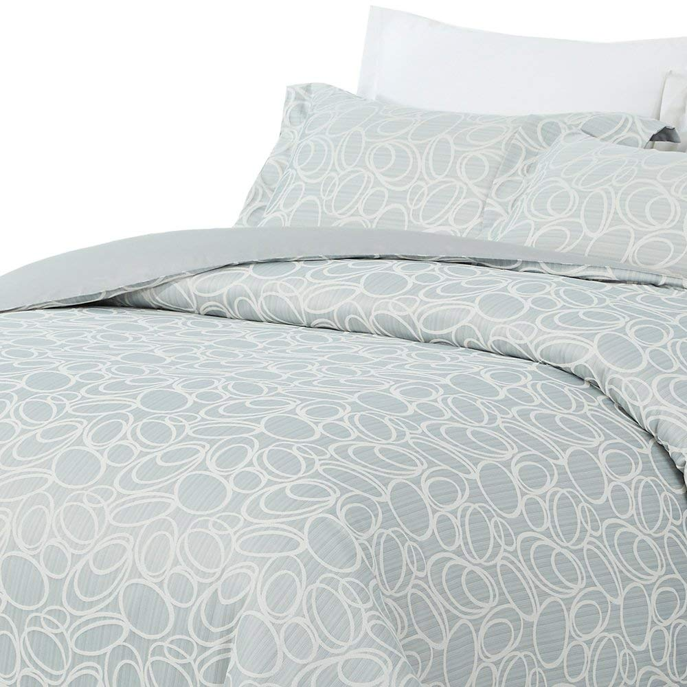 Light bluee Queen Natural Comfort DCCD TA-K Luxurious Cotton Duvet Cover LuckyTwist Mini Set, King, Light Taupe, 3 Piece