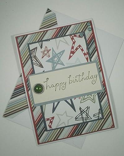 Amazon Com Birthday Card Handmade Birthday Card Birthday Card Blank Birthday Card Coworker Birthday Card Birthday Card For Him Happy Birthday Handmade