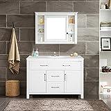 Harper&Bright Designs Bathroom Vanity with Ceramic Sink Top 47'' Single Sink (Design1)