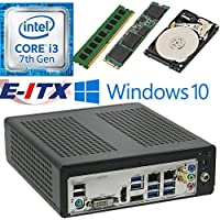 E-ITX ITX350 Asrock H270M-ITX-AC Intel Core i3-7100 (Kaby Lake) Mini-ITX System , 4GB DDR4, 120GB M.2 SSD, 2TB HDD, WiFi, Bluetooth, Window 10 Pro Installed & Configured by E-ITX
