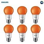 Philips 463190equivalente a 60W A19LED Bug bulb6Pack de luz, Anaranjado