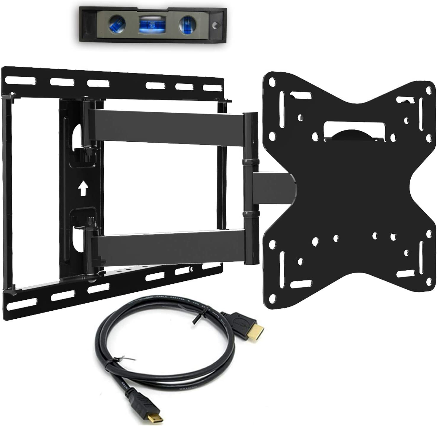 Everstone TV Wall Mount For Most 23-70 Inch LED LCD Plasma Flat Screen Up To 110 Lbs VESA 600x400mm With Full Motion Swivel Articulating Arm,Fits 8-16 Wall Studs,HDMI Cable