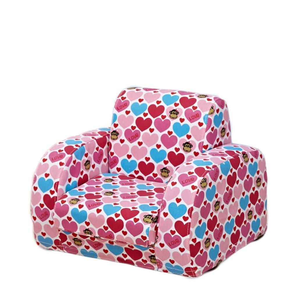 子供用ソファ、生地変形可能折りたたみベビーアームチェア多機能男の子と女の子に最適ソファチェア2色オプション (色 : ピンク)  ピンク B07RPFMXVF