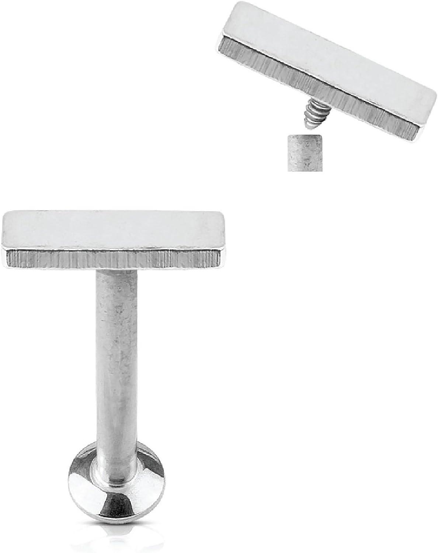 BodyJ4You Labret Stud Piercing Monroe Helix Earring Stainless Steel Bar 8mm Barbell 16G (1.2mm)