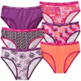 Calvin Klein Girls' Comfort Stretch Bikini Underwear 6-Pack (Medium / 8-10, Assorted Pink/Orange)