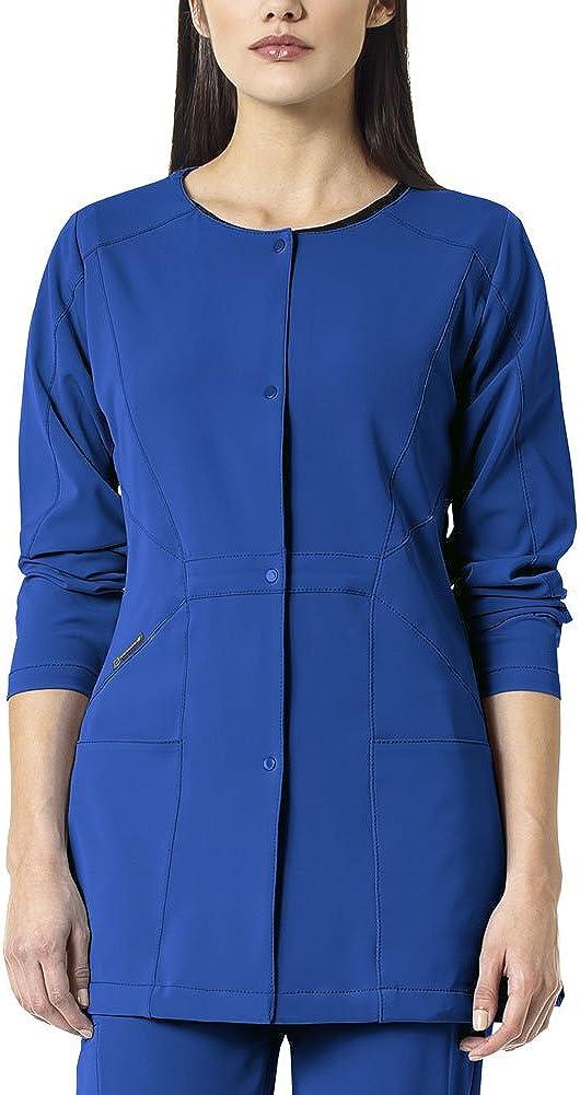 WonderWink Women's Hp Plus Size Snap Front Scrub Jacket