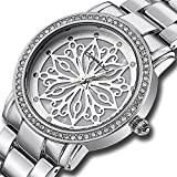 CRRJU Brand Women's Fashion Quartz Dress Wristwatch Stainless Steel Casual Crystal Watch