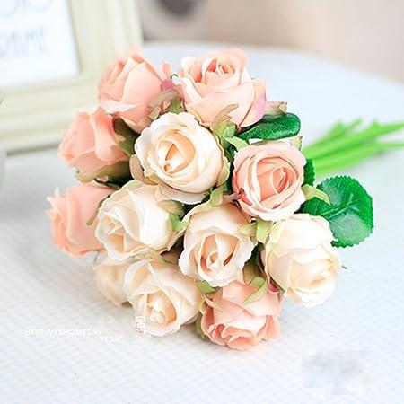 Meiliy fake floral rose silk flower artificial flower real touch meiliy fake floral rose silk flower artificial flower real touch rose for home hotel office wedding mightylinksfo