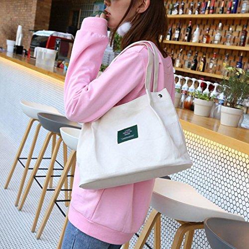 4bdb0358c V Esailq Lona Shoppers Para Blanco Hombro Bandolera Grande Y Bolsos Niña  Mujer Amarillo De Baratos DE29IH