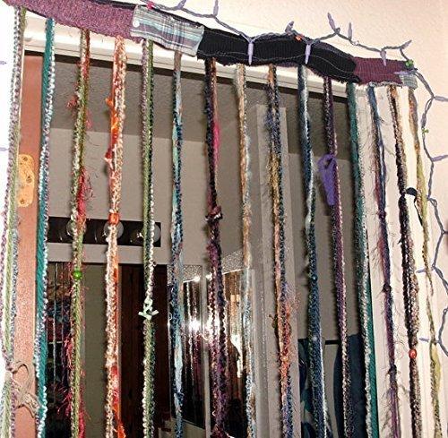 Hippie Gypsy Hanging Beaded Curtain, Room Divider, Door Curtain, Custom  Made, Yarn